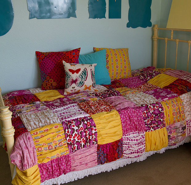 how to make a patchwork quilt with photos