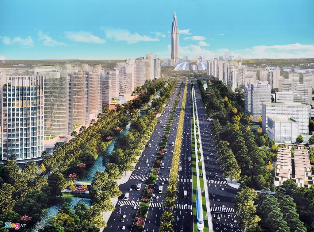 Xa lộ trường xa hướng đi nội bài từ dự án Eurowindow River Park
