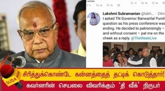 Journalist lakshmi subramanian of the week magazine takes twitter to storm against tamilnadu governor