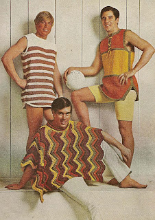 Crochet Ripple Poncho Pattern, Vintage 1960s