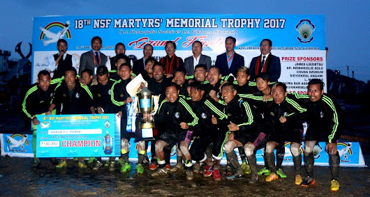 Barak FC win the most prestigious tournament NSF Martyrs' Trophy 2017