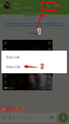 How to use video call on whatsapp