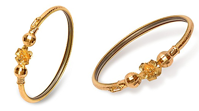 Senco Gold 22k (916) Yellow Gold Bangle