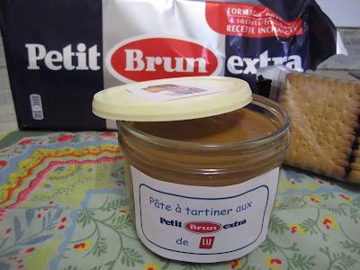 Pâte à tartiner aux biscuits Petit Brun extra de Lu