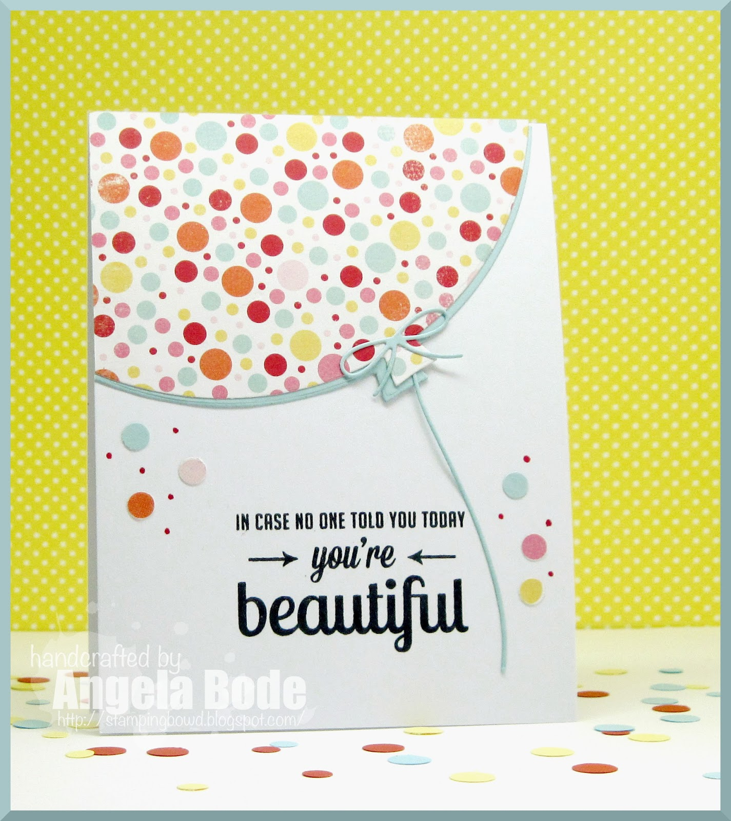I Would Rather Be Stamping Denises Happy Birthday Blog Hop Stamp