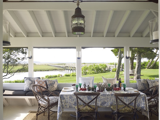 Inspiring image of a beautiful beach house in the Hamptons - found on Hello Lovely Studio