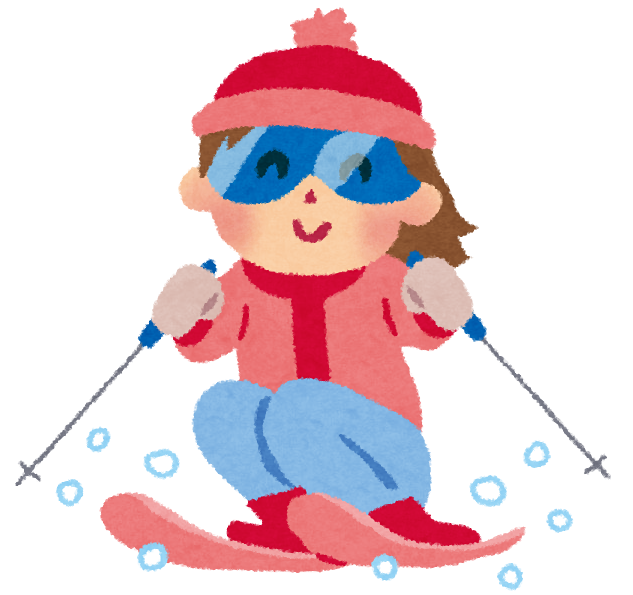 スキーのイラスト女の子 かわいいフリー素材集 いらすとや