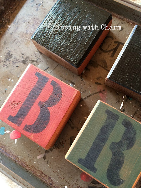 Chipping with Charm:Spring Repurposed Blocks, www.chippingwithcharm.blogspot.com