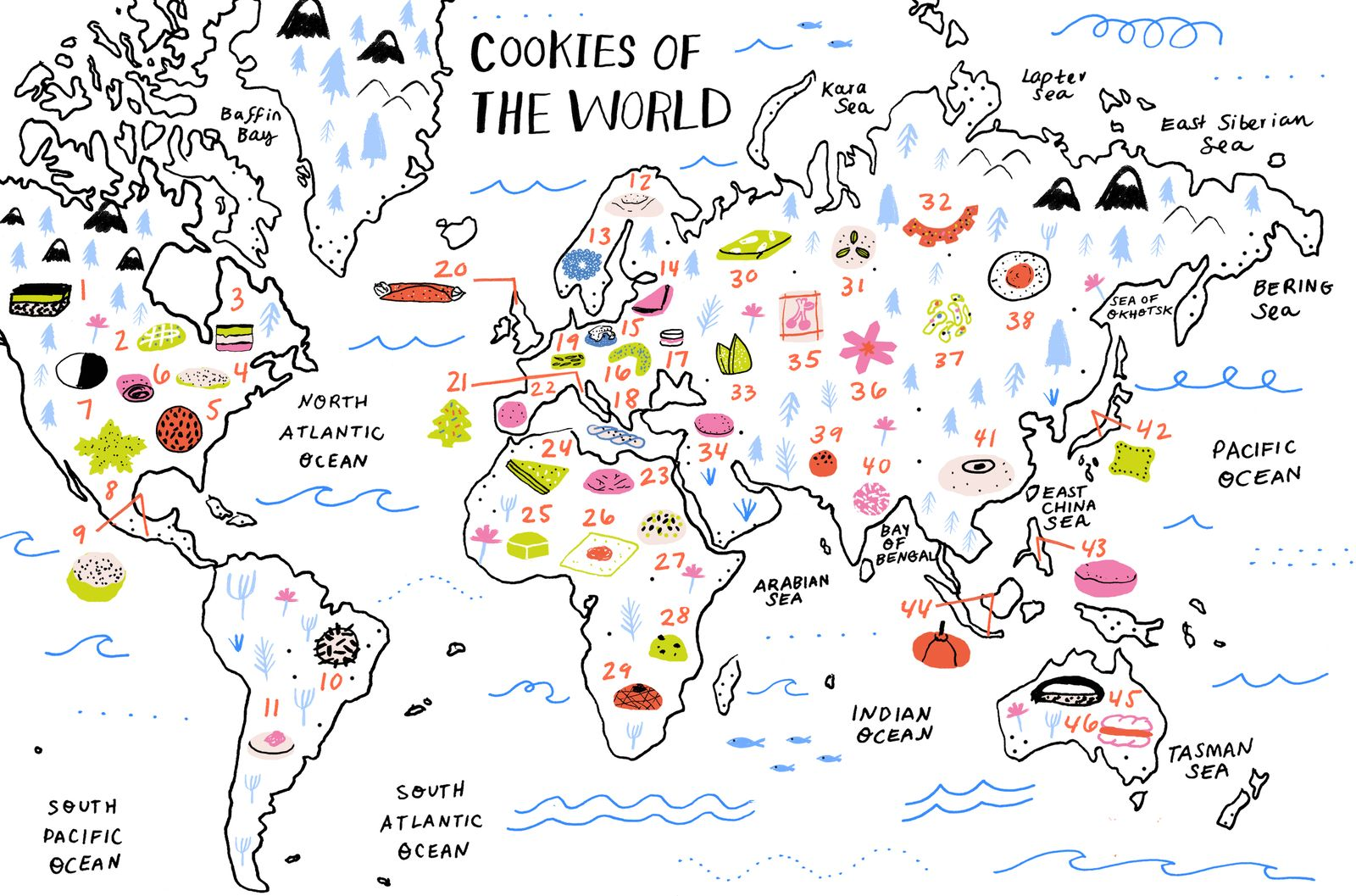 Dying For Chocolate Cookies Of The World Great Map From