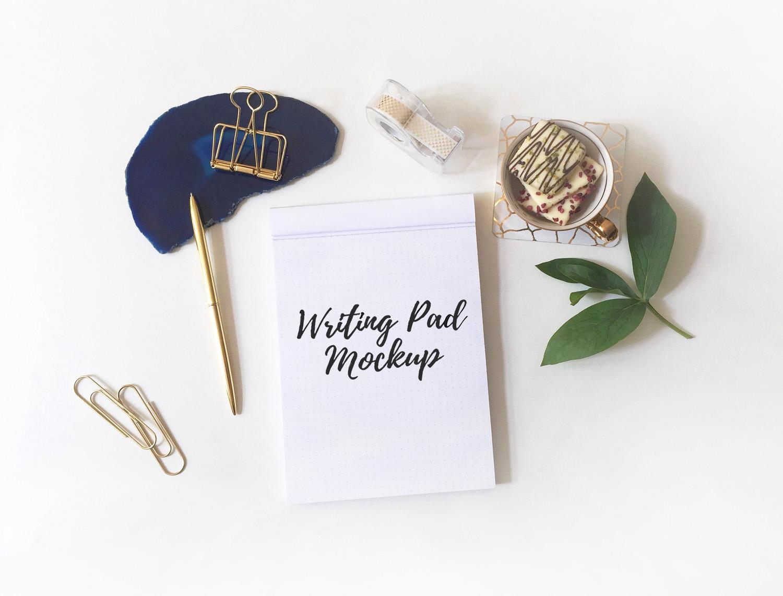 Writing Pad Desk Mockup