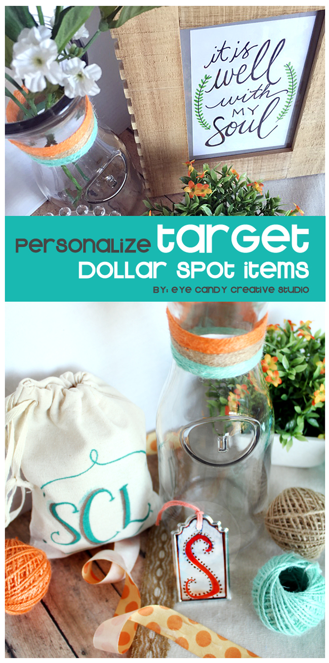 personalize target dollar spot items, target finds, crafting, craft ideas, gifts