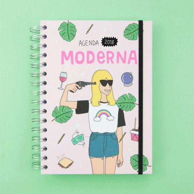 agenda anual moderna de pueblo
