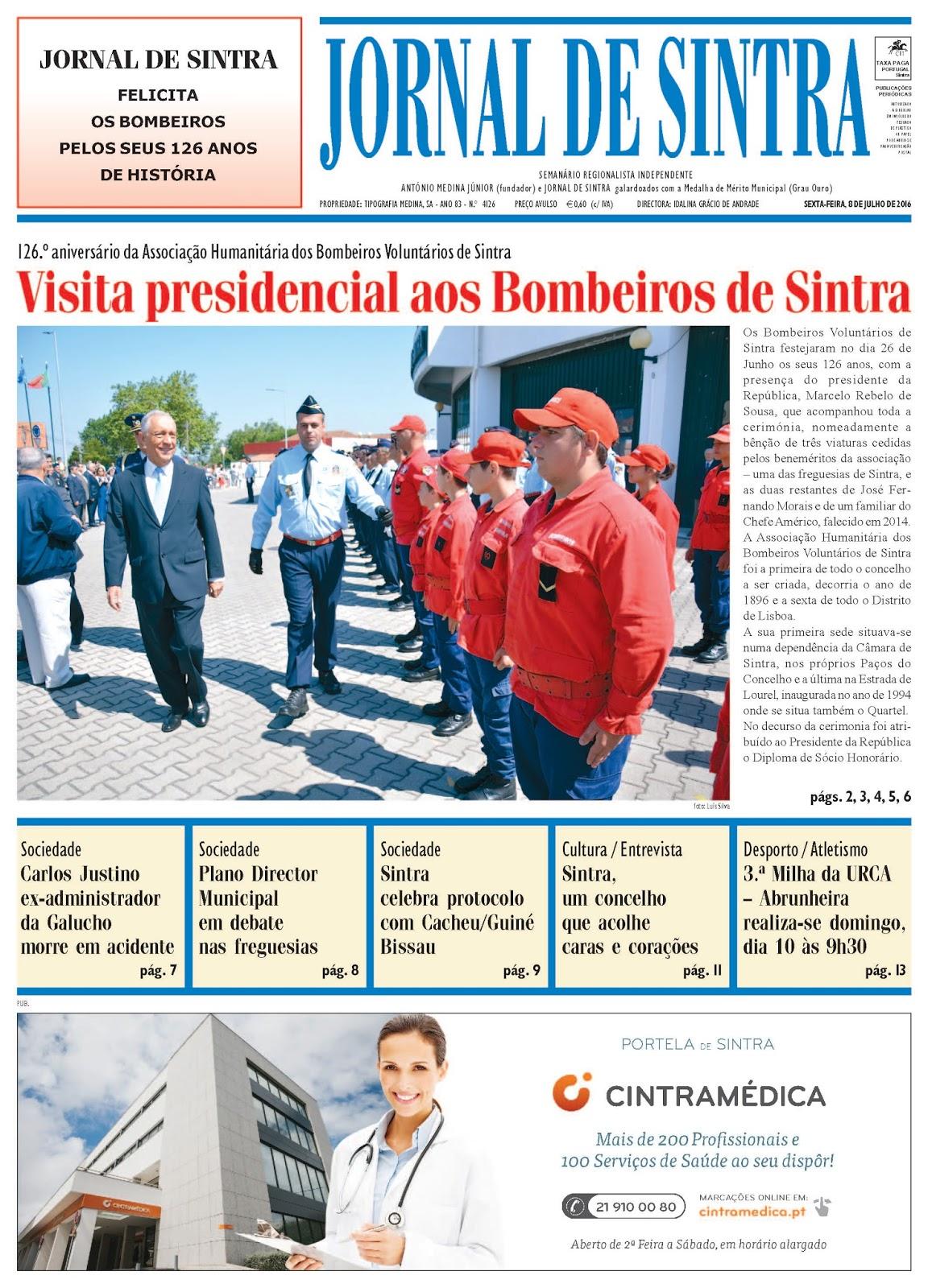 Capa da edição de 08-07-2016