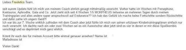 Freeletics Coach Woche 11