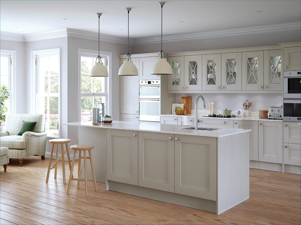 The Kitchen Yard Made To Order Kitchen Units Doors And - Light grey kitchen units