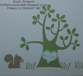 Stampin' Up! Made by Susan Simpson Independent Stampin' Up! Demonstrator, Craftyduckydoodah!, Nuts About You, Hello Love,