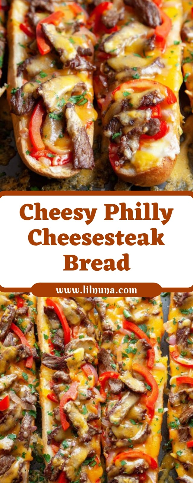 Cheesy Philly Cheesesteak Bread