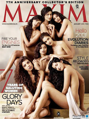 India's Top Models Go Nude on the Cover of Maxim