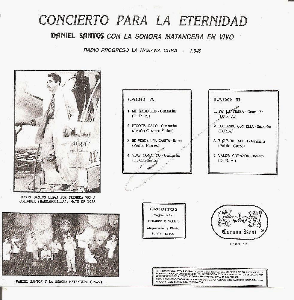 TROPICALES DEL RECUERDO: Daniel Santos & La Sonora