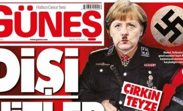 Με τον Χίτλερ παρομοιάζεται η Μέρκελ στο πρωτοσέλιδο τουρκικής εφημερίδας