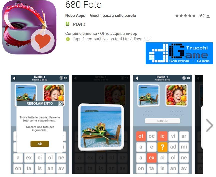 Soluzioni 680 Foto | Screenshot Livelli con Risposte