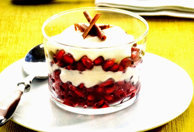 Recetas Con Fruta Granada Granadas Macedaras Al Vino Con Yogur