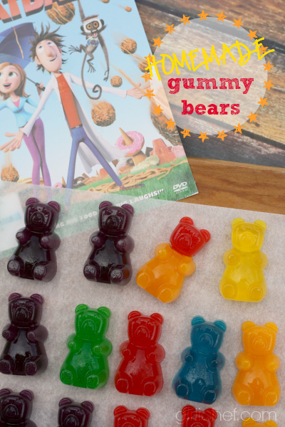 Easy Homemade Gummy Bears (inspired by Cloudy with a Chance of Meaballs for Food 'n Flix) from allroadsleadtothe.kitchen