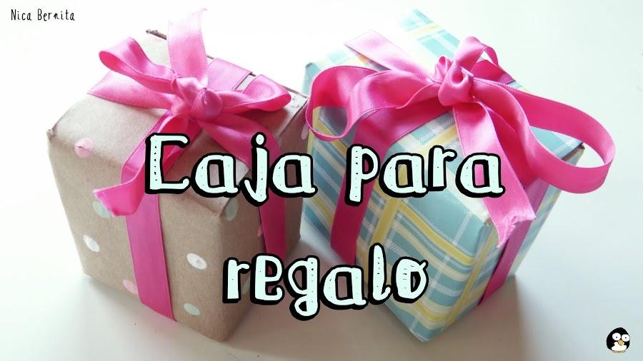 Caja de regalo hecha a mano (Nica Bernita)