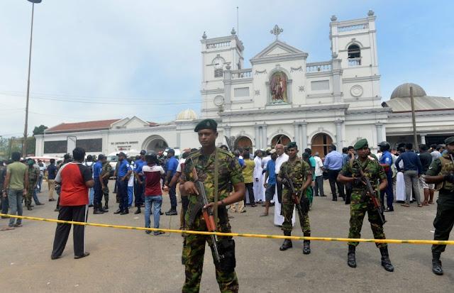 Bepuluh orang parai, beratus orang bakal, gereja enggau hotel kena bom