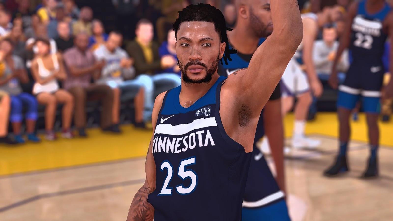 01971027b42 NBA 2K19 - Derrick Rose Cyberface  2 versions  by EnterTheV01D ...