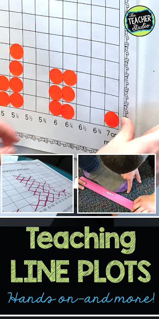 grade 3, grade 4, teaching line plots, line plot activities, hands on line plots, measurement activities, common core line plots, fraction line plots, analyzing line plots, making line plots, standardized testing, test prep