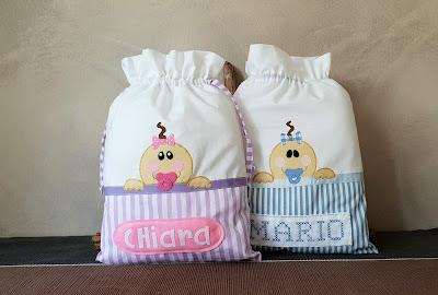 sacchetti primo cambio bebè personalizzato