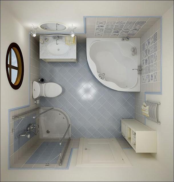 Phòng tắm nhỏ- mẫu 4