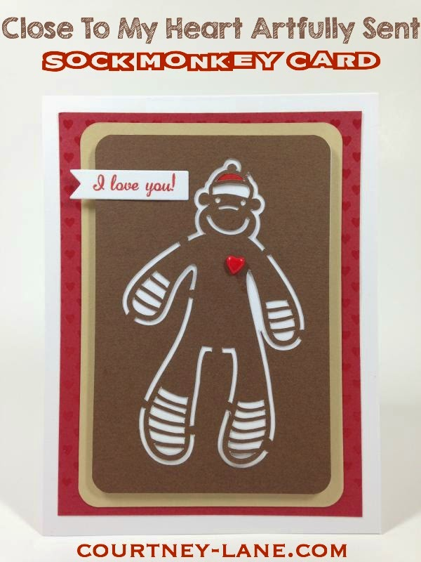 Close To My Heart Artfully Sent sock monkey Card