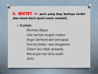 Pengertian Dan 5 Contoh Puisi Sektet dalam Bahasa Indonesia