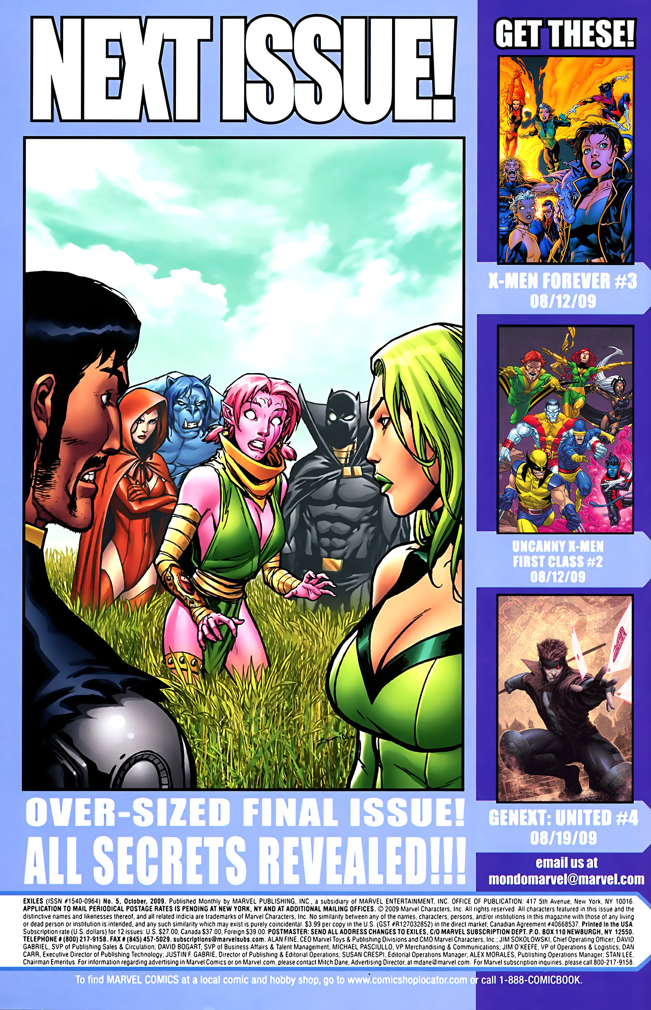 Read online Exiles (2009) comic -  Issue #5 - 26