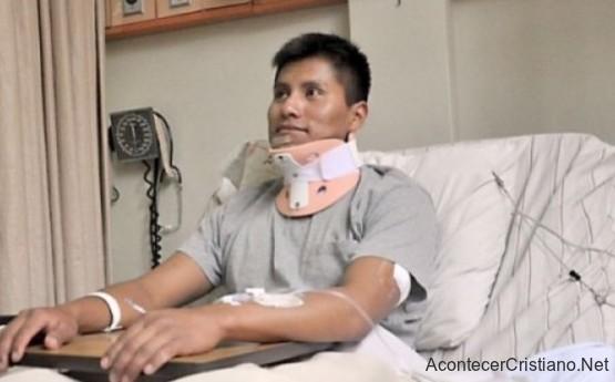 Erwin Tumiri sobreviviente al accidente aéreo en Colombia