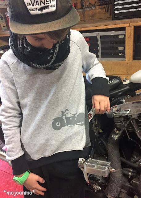 echt knorke, motorrad, grau, sweat