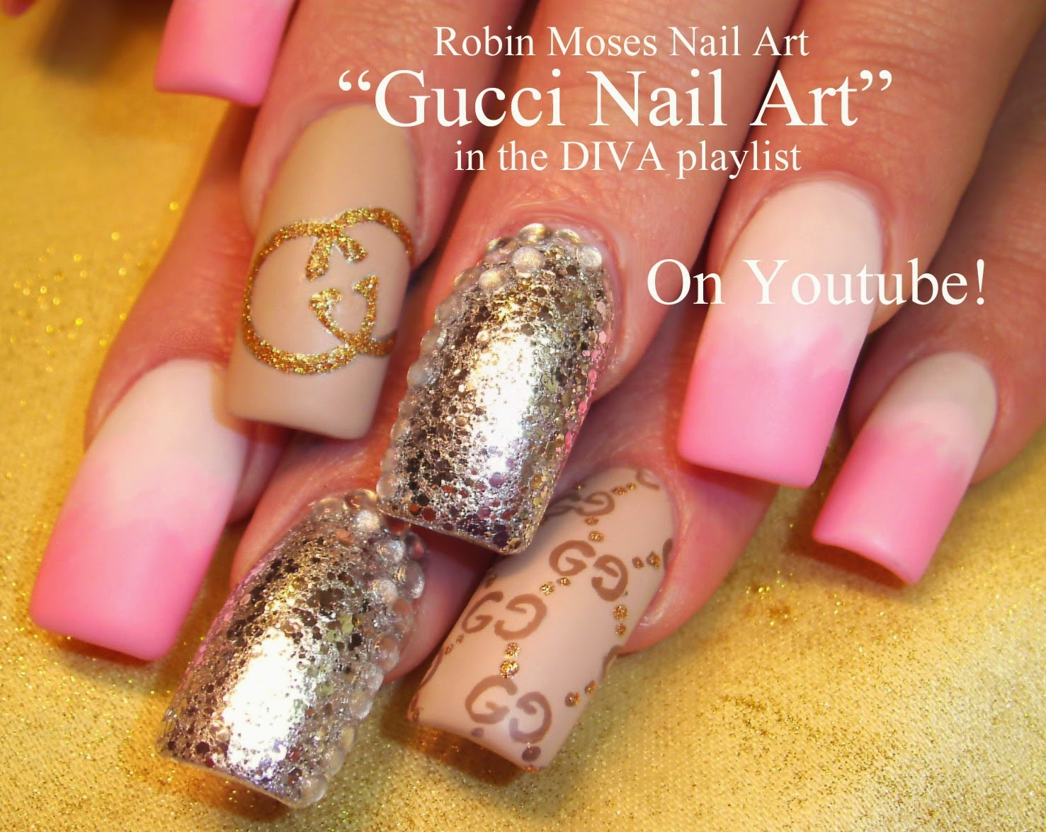 Nail Art By Robin Moses Quot Versace Nails Quot Quot Versace Nail Art Quot Quot Gucci Nails Quot Quot Michael Kors Nails
