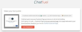 beri permisi aplikasi Bot Messenger fanspage facebook tanpa jago koding