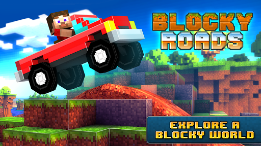 Blocky Roads 3d car racing game on Android