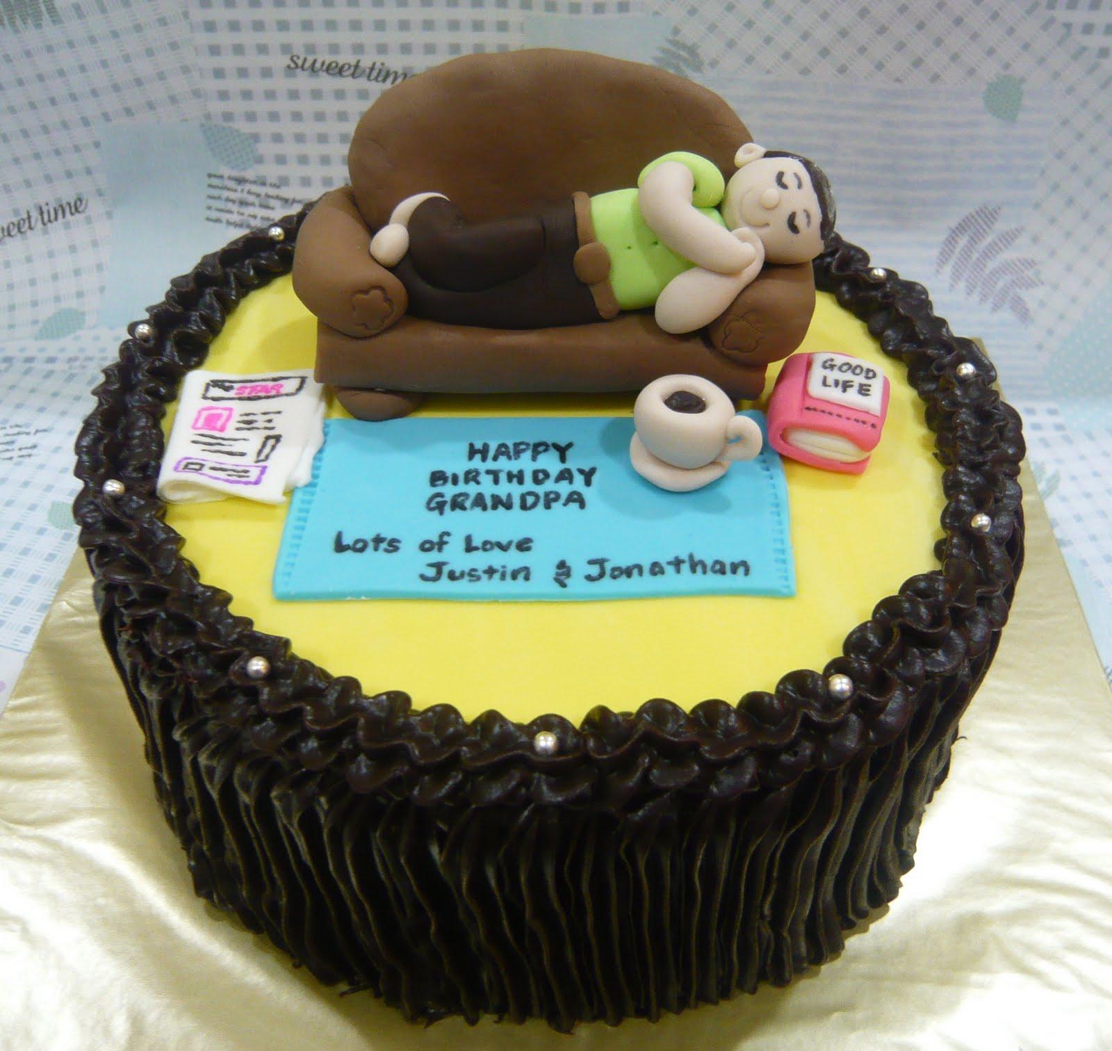 Jenn Cupcakes Muffins Happy Birthday Grandpa