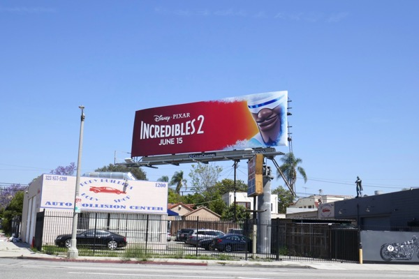 Frozone Incredibles 2 billboard