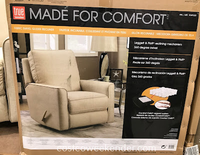 Costco 1049323 - True Innovations Fabric Swivel Glider Recliner Chair: great for your home's living room or family room