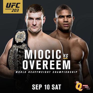 UFC 203 Miocic vs Overeem