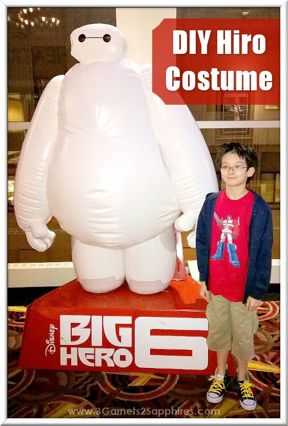 Disney Big Hero 6 Movie - DIY Hiro Costume  |  www.3Garnets2Sapphires.com