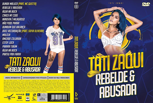 Capa DVD Tati Zaqui Rebelde E Abusada
