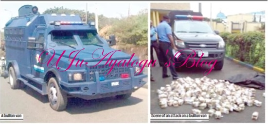 Armed robbers attack bullion van on Asaba-Benin expressway, escape with N25million (Photo)