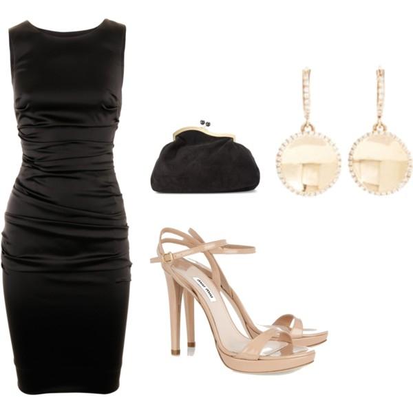 Zapatos para combinar con vestido negro