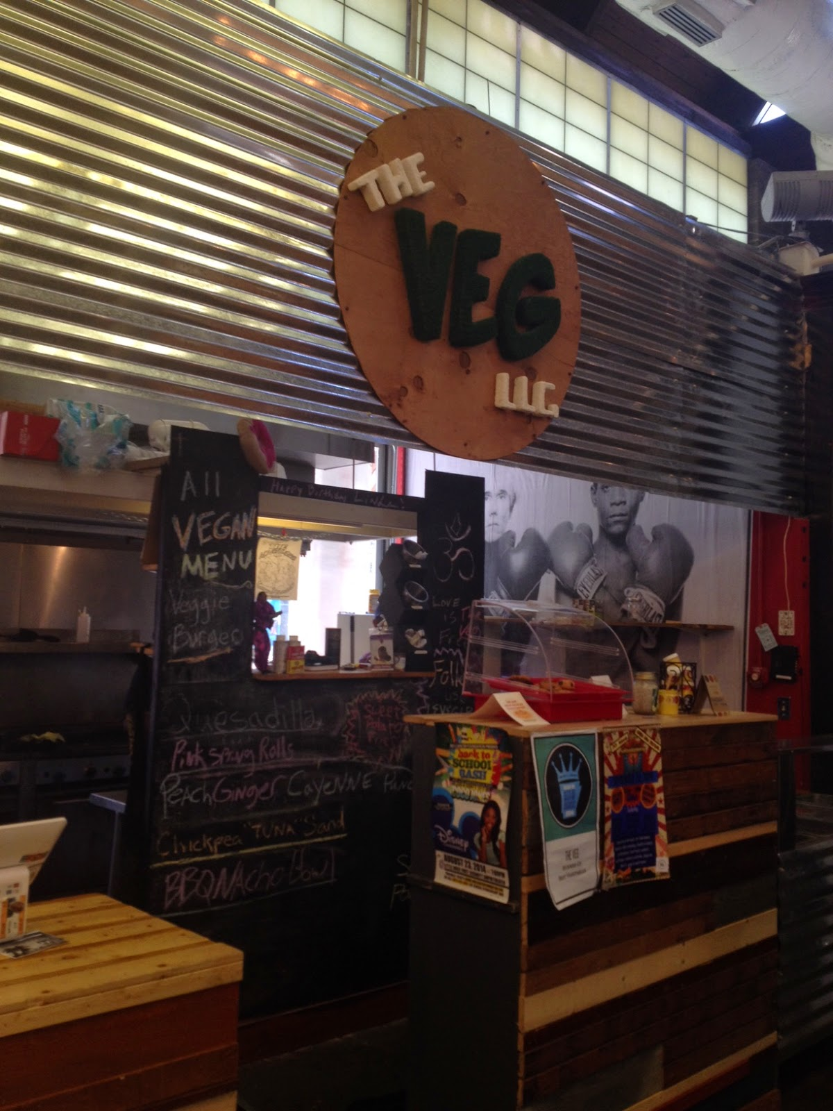 I Arrived Just A Little After Lunch So We Had Late At Rock S New Totally Vegan Restaurant The Veg Llc